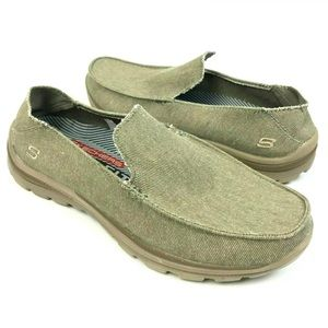 Skechers MEN Relaxed Fit Canvas Slip on Loafers 8